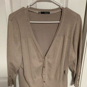 Pretty taupe brown cardigan